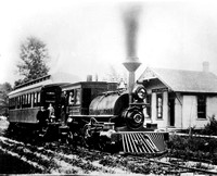 Chicago, Harlem and Batavia Railway train at the Oak Park Station, Randolph St. & Wisconsin Ave., c. 1890