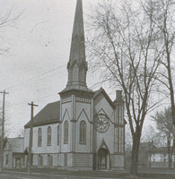 Original 1st Methodist Church, built 1874 and razed in 1912 to make way for the current church