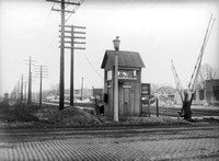 Baltimore & Ohio grade crossing at Wiscinsin Ave. and Randolph St., c. 1900